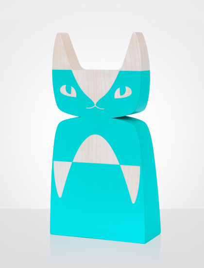 wood_cat_turquoise_green